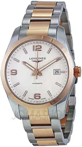 Longines Conquest Classic Automatic Silver Dial Stainless Steel and 18k Rose Gold Mens Watch L2.785.5.76.7