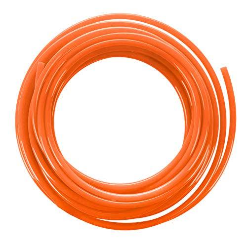 Beduan Pneumatic Tubing Pipe 5/16' OD Orange Air Compressor PU Line Hose Tube for Water Fluid Transfer 12Meter 39.4ft