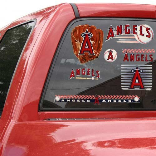 17' Window Cling Decal (MLB Los Angeles Angels of Anaheim 11'' x 17'' Window Clings Sheet)