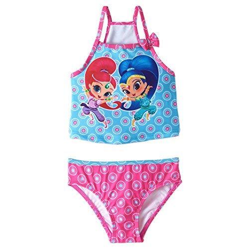 Shimmer and Shine Girls Swimwear Swimsuit (3T, Pink/Blue) ()