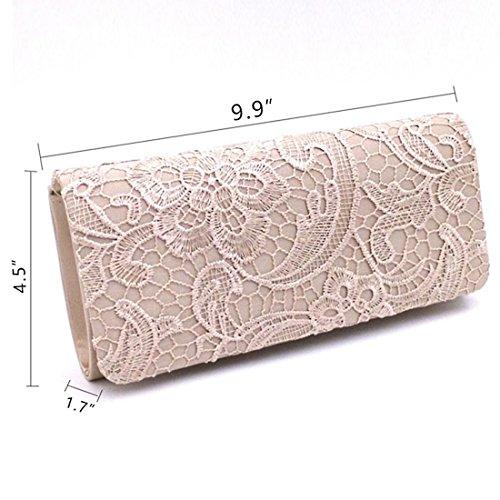 femme Evening pour Pochette SSMK Bag silver 6UIO6nqx