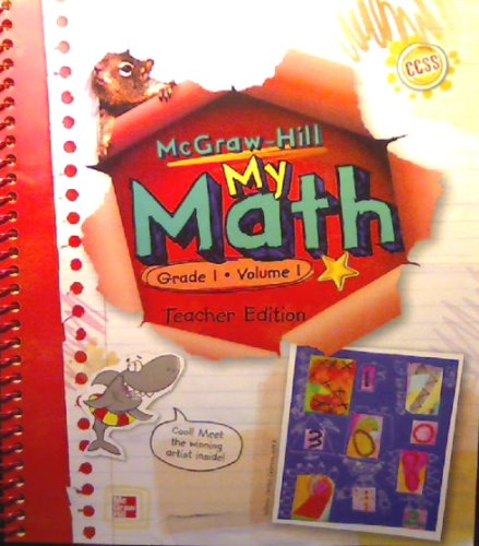 Mcgraw Hill My Math Grade 1 Volume 1 Teacher Edition  Ccss  Common Core State Standards Edition
