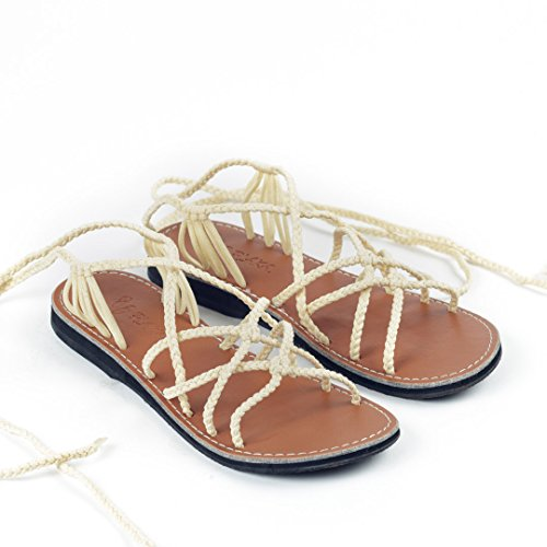 Sweet for Gladiator ivory Flat Sahara Sandals Women Plaka HxAUqYnw