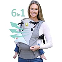 Lillebaby Complete All Seasons 6-in-1 Baby Carrier (Charcoal/Silver)
