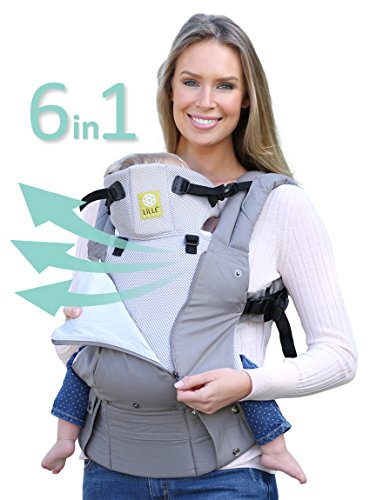 lillebaby All Seasons Stone 6 in 1 Baby Carrier, Grey
