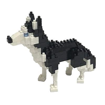 Nanoblock Siberian Husky Building Kit, Silver: Toys & Games
