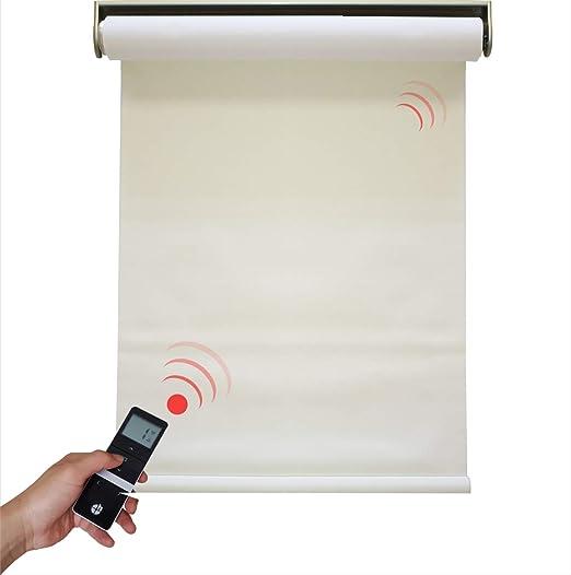 Tissu diff/érentes dimensions Blanc 0/%. H Store /électrique occultant avec moteur sans fil 1 pi/èce blanc 1400x2500 mm 0/% de taux douverture du tissu