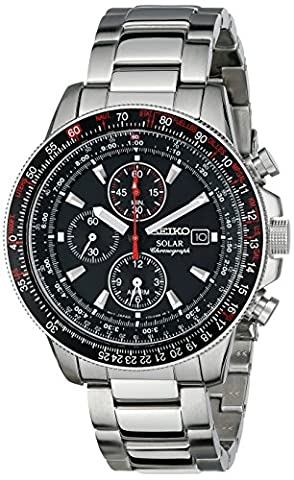 Seiko Men's SSC007 Stainless Steel Watch with Link Bracelet (Chronograph Seiko)