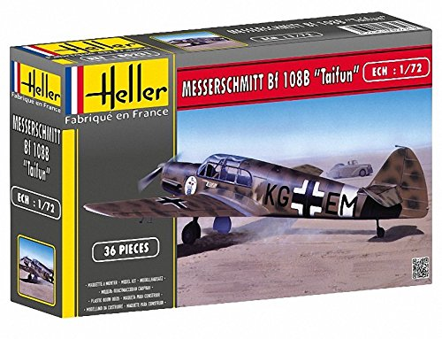 Heller Messerschmitt 108B Taifun Airplane Model Building Kit Vip Full Kit
