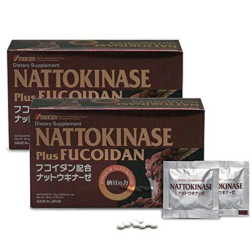 2X Umeken Nattokinase Plus Fucoidan- 2300FU Natto, 87mg of Fucoidan. Packets, Ball Form. 4 Month Supply. Made in Japan. For Sale