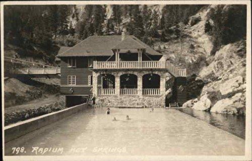 Radium Hot Springs Radium, British Columbia Canada Original Vintage Postcard