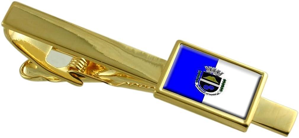 Comendador Levy Gasparian City Rio de Janeiro State Flag Gold-tone Tie Clip