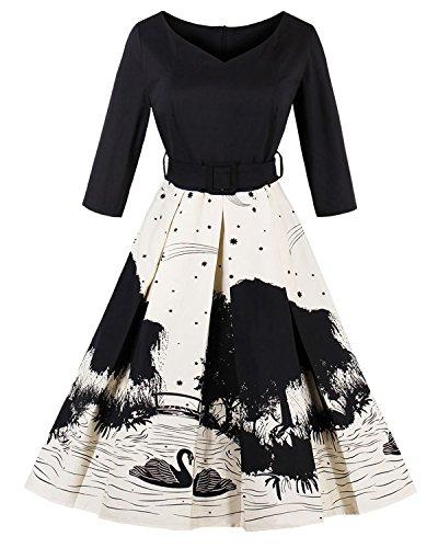 50s swing dress plus size - 4
