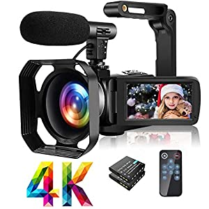 Flashandfocus.com 51-64vd8lAL._SS300_ 4K Video Camera Camcorder with Microphone Ultra HD 30MP YouTube Vlogging Camera 3.0 Inch Touch Screen 16X Digital Zoom…