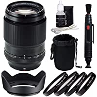 Fujifilm XF 90mm f/2 R LM WR Lens + 52mm +1 +2 +4 +10 Close-Up Macro Filter Set with Pouch Bundle 4