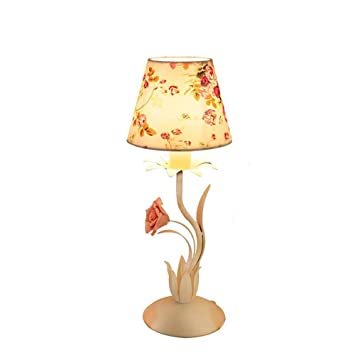 DLINMEI E14 Lámpara de Mesa de Hierro Forjado Coreano ...