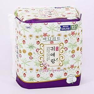 LG Guiarang Herbal Sanitary Napkin Night Use 33cm 12pcs LG ??????? ?????????? 33cm 12????? - Korea Imported