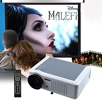 Flylinktech LED Pico Proyector DLP Soporte 1080p HDMI Cable de ...