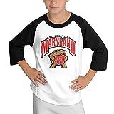 MULTY9 University Of Maryland College Park Child Youth 3/4 Baseball Tee