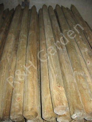 Estacas de madera redonda árbol - cm 121, 92/1, 2 m - palet compra ...