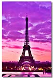 "1x Poster Eiffel Tower Landscape Paris City Girl Gift Love for Room Office Hall Art Print Decoration 47x31.5"" (120x80cm) (004)"
