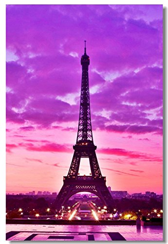 1x Poster Eiffel Tower Landscape Paris City Girl Gift Love for Room Office Hall
