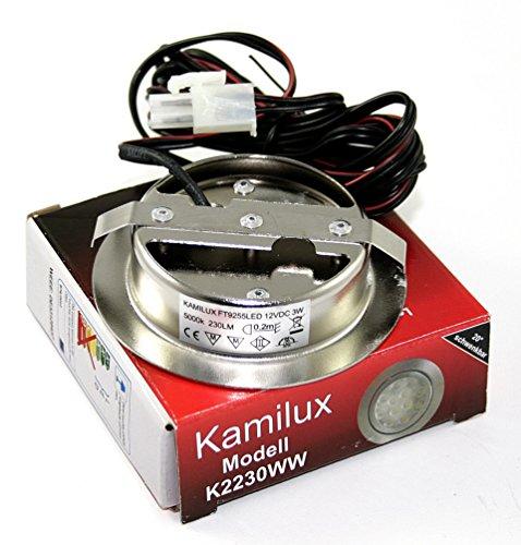 Lot de 12 lED encastrable pour meuble de cuisine de travail type  möbeleinbaulampe moo spot orientable à 20 °c iP20 lED blanc chaud 3 w  équivalent à une ... 0329c79a73b0