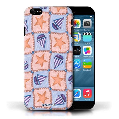 Etui / Coque pour Apple iPhone 6/6S / Pêche/Violet conception / Collection de Bateaux étoiles