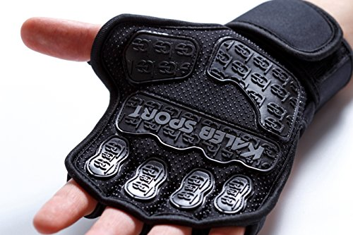 Workout Gloves with Special Inserts for a Stronger Grip | Built-In Wrist Wraps | Full Palm Protection | Great for Pull-Ups, Cross-Training, Fitness & Powerlifting | Men & Women