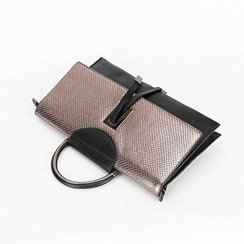 Home Monopoly Borsa portatile borsa borsa borse donna borsa moda pacchetto diagonale (oro champagne)