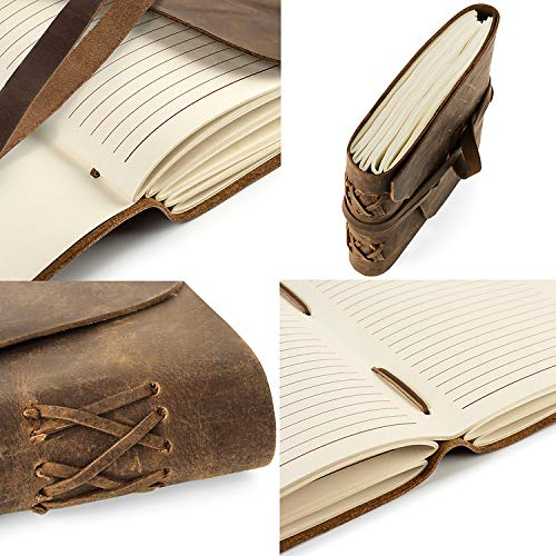 LEATHER JOURNAL IN GIFT BOX WITH PEN AND PAGE MARKER Artisan Notebook With Premium Lined Paper For Men /& Women 7 X 5 Inches Perfect For Journaling Poetry Notebook Diary Makes A Great Gift.