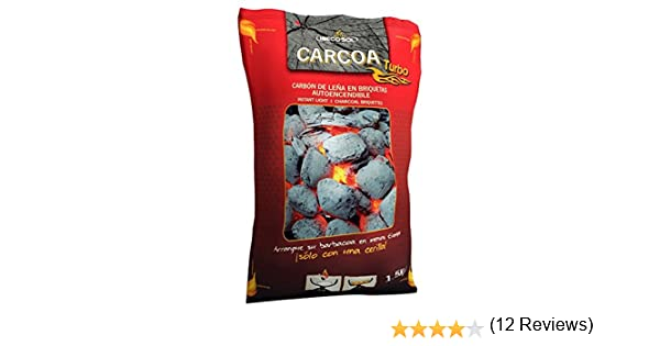 Carcoa Turbo 00973 - Briquetas autoencendibles, 1.5 kg, Color Negro: Amazon.es: Jardín