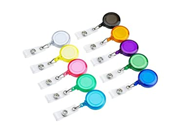 10 carretes de insignia retráctiles multicolores con ...