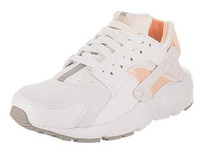 1bad59d1e5bf Nike Huarache Big Kids Running Shoes White Crimson Tint 654280-110 (4 M