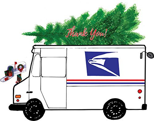Mail Carrier Holiday Thank You Cards 10 pack (Cards Mail Christmas Carrier)
