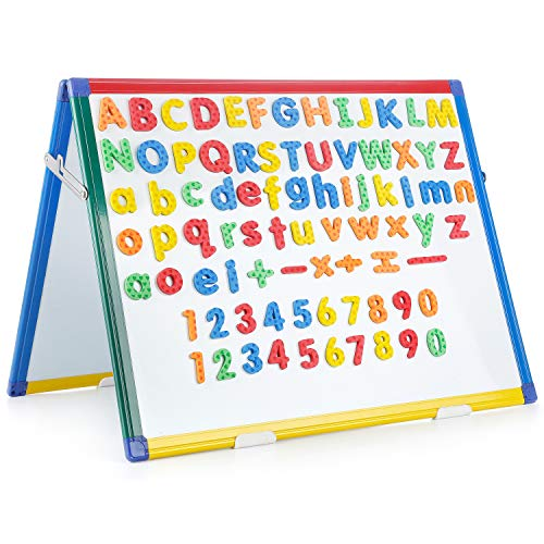 Swansea Magnetic Whiteboard Dry Erase Wipe Planning Board with 82Pcs Foam Magnets,24x18inch
