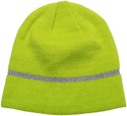 cebd6000bc7377 Opromo Hi-Viz Knit Cap, High Visibility Reflective Workman Beanies Winter  Hat