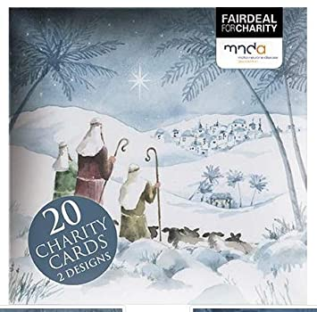 The Alzheimers Society and Diabetes UK MED0784 Sold in Aid of Oxfam Charity Christmas Cards Nativity The Donkey Sanctuary Pack of 8 Cards Marie Curie Parkinsons