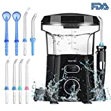 Homitt Water Flosser, Electric 600ml Oral Irrigator for Tooth Clean and Dental Care 9 Multifunctional Leak-Proof Nozzles Support 5 Different Functions Professional for Adults and Kids