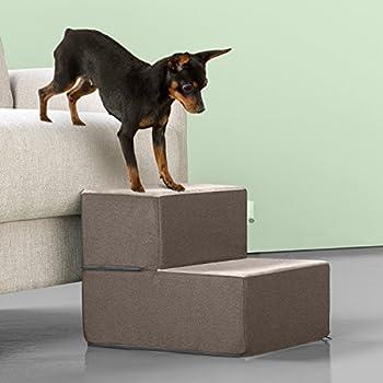 Amazon Com Zinus 2 Step Cozy Pet Stairs Pet Ramp Pet