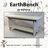 Deluxe Children's Personal Sitting Bench (28''×11''×13'' tall) UNFINISHED PINE - Made in the USA