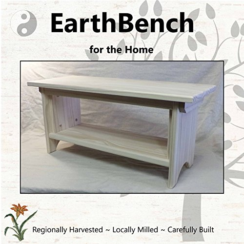 Deluxe Children's Personal Sitting Bench (28''×11''×13'' tall) UNFINISHED PINE - Made in the USA by EarthBench for the Home