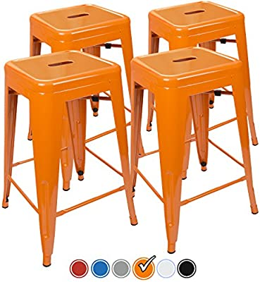 amazon com urbanmod 24 inch counter stool set of 4 by orange bar
