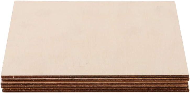 16 Piezas 1.5mm Placa de Muestra de Madera en Blanco sin Terminar Accesorios para Hacer Proyectos de Artesan/ías DIY