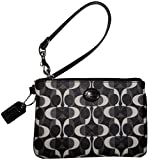 Coach Signature Peyton Dream C Wristlet Black White/black F50523