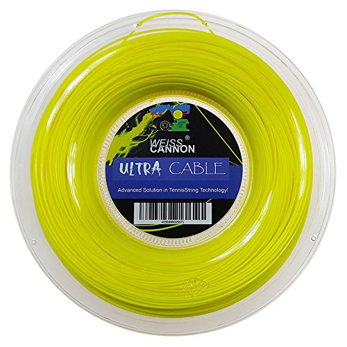 Weiss Cannon Ultra Cable Tennis String - 17L/1.23mm (neon Yellow) - 660ft - 200m Reel