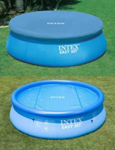 Intex 12ft solar debris easy set pool covers toys games for 12ft solar swimming pool covers