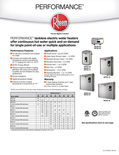 Rheem 240V 2 Heating Chambers RTEX-18 Residential Tankless Water Heater, small, GREY