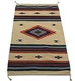 Onyx Arrow Southwest Décor Area Rug, 32 x 64 Inches, Center Diamond, Tan/Red