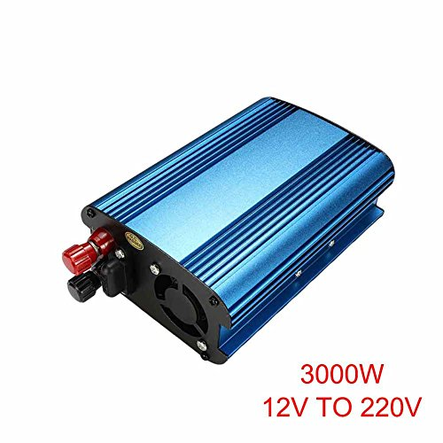 alextreme Inverter, Power Inverter,Onduleur,Pure Sine Wave Inverter, 3000W/4000W Power Inverter AC Outlets 12/24V DC to 220V AC Car Inverter (12V to 220V 3000W, A)